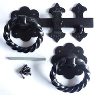 Twisted Ring Garden / Drive Gate Latch Black
