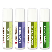 Essential Oil Set Lavender, Eucalyptus, Patchouli, Peppermint - for Stress Anxiety Antifungal Antibacterial