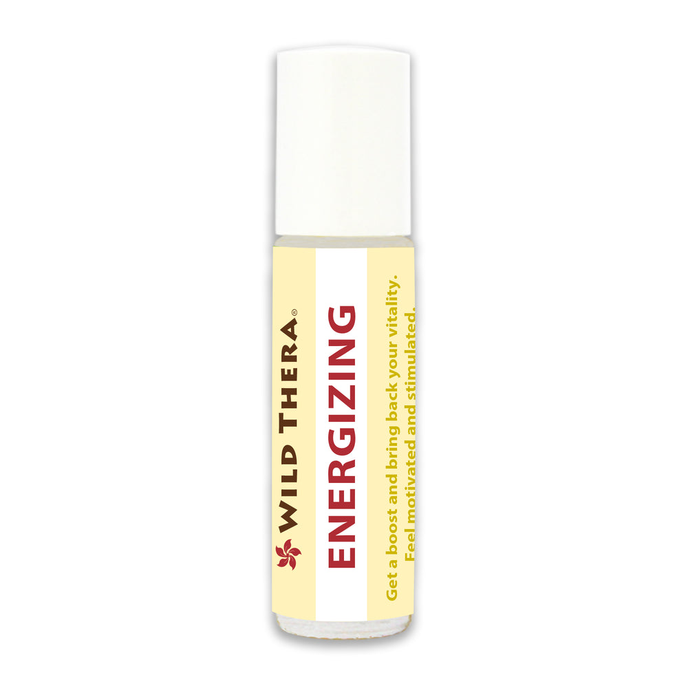 Aromatherapy roll on blend for energy, endurance, effectiveness and stamina