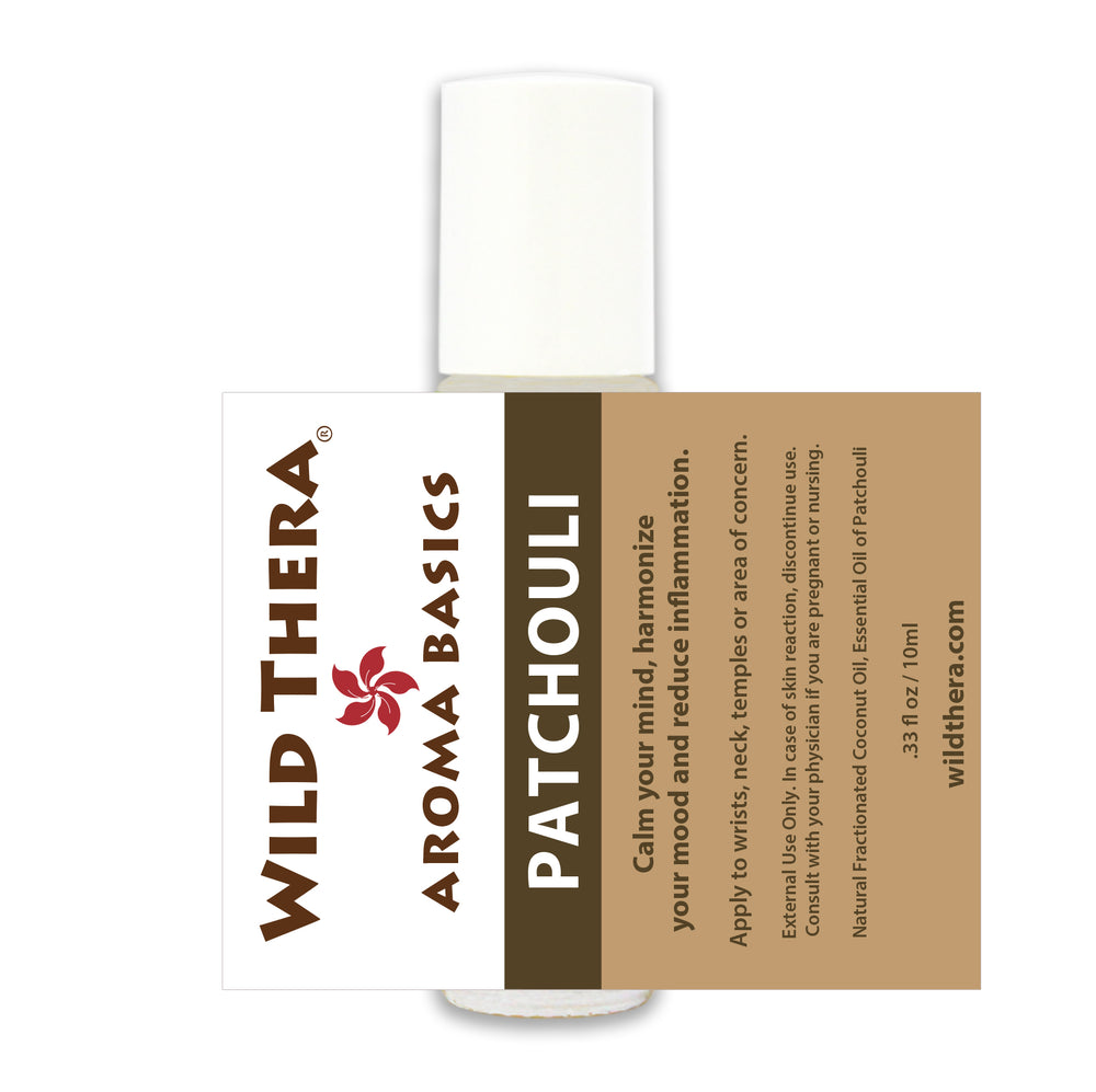Aromatherapy roll on Patchouli. Reduce anxiety, nervousness, dry scalp, stress and worry