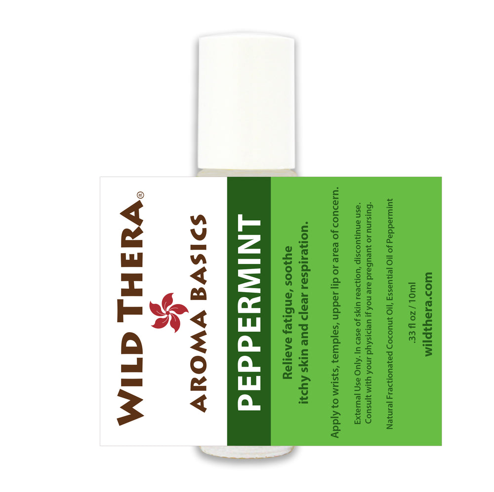 Aromatherapy roll on Peppermint for cold, sinus, cramps, stomach ache, nausea and depression.