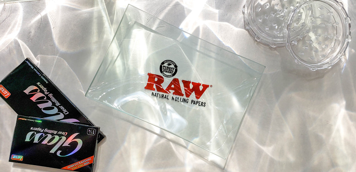 Glass Mini Raw Rolling Tray