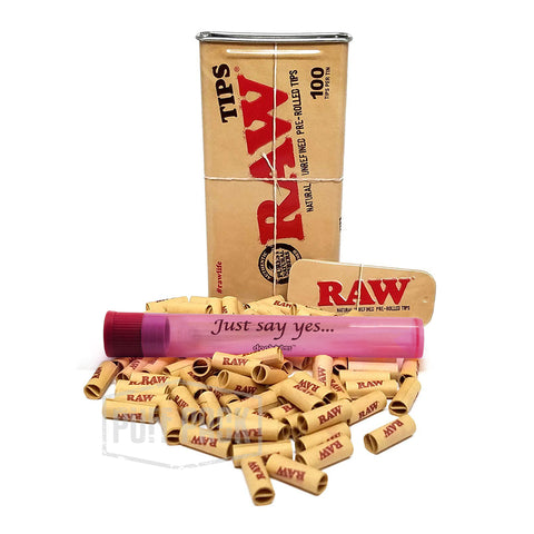 RAW Prerolled Tips Tin Bundle