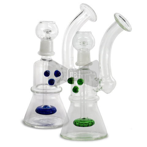 "8"" Beaker with Showercap Diffuser Bubbler Rig"