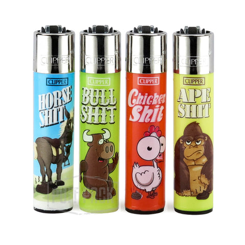 Animal Shit Clipper Lighters