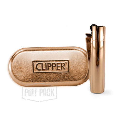 Clipper Metal Rose Gold Lighter