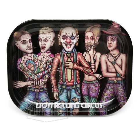 "Lion Rolling Circus Mini Tray ""Family"" Horizontal"
