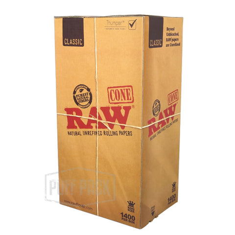 RAW King Size Cones 1400 Bulk