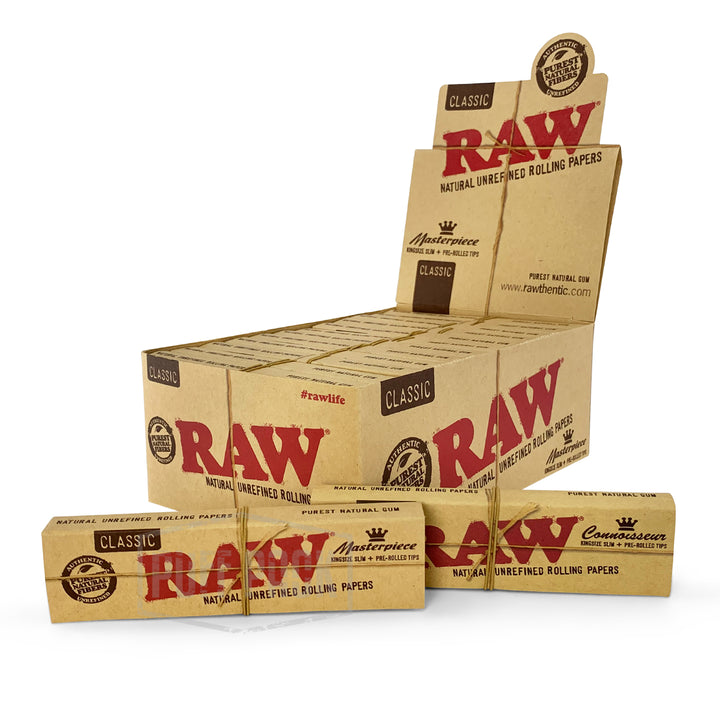 RAW Masterpiece King Size Slim With Pre-Rolled Tips