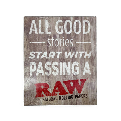 RAW Rustic Wooden Sign