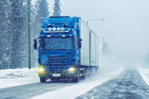 Truck on Frozen Freight Way