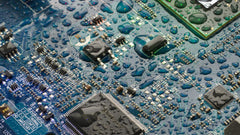 water drops on electronics