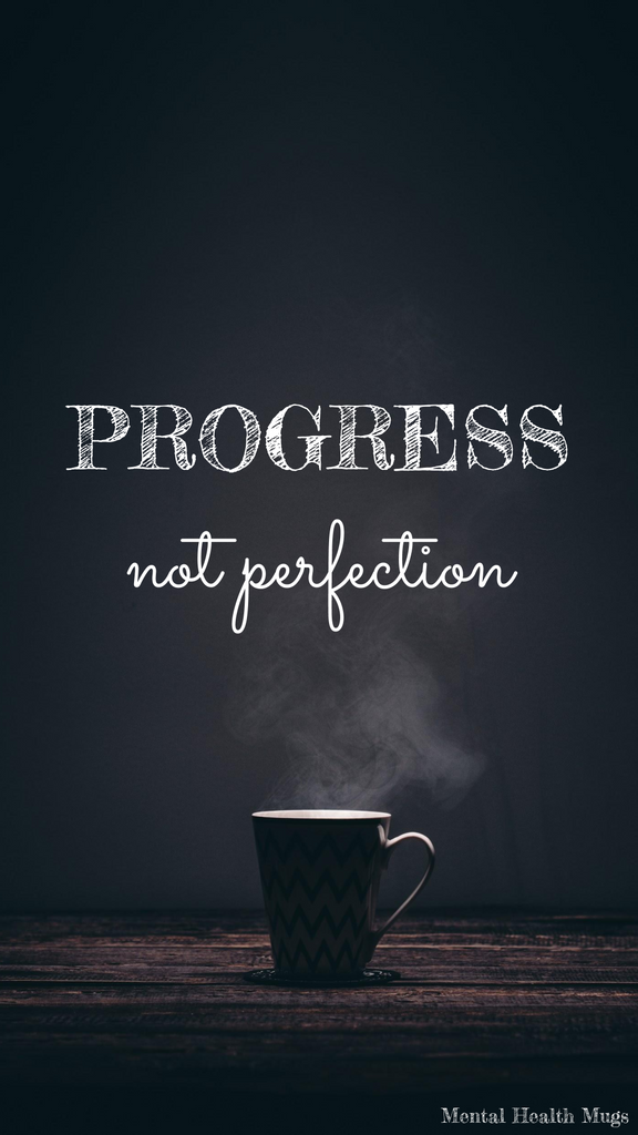 Progress Not Perfection Phone Wallpaper