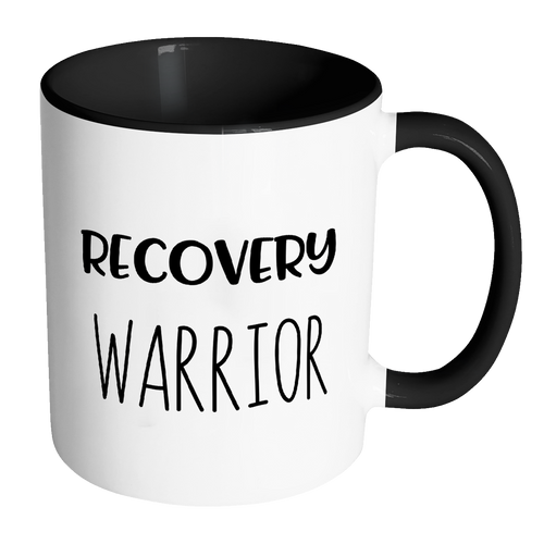 Recovery Warrior Accent Mug