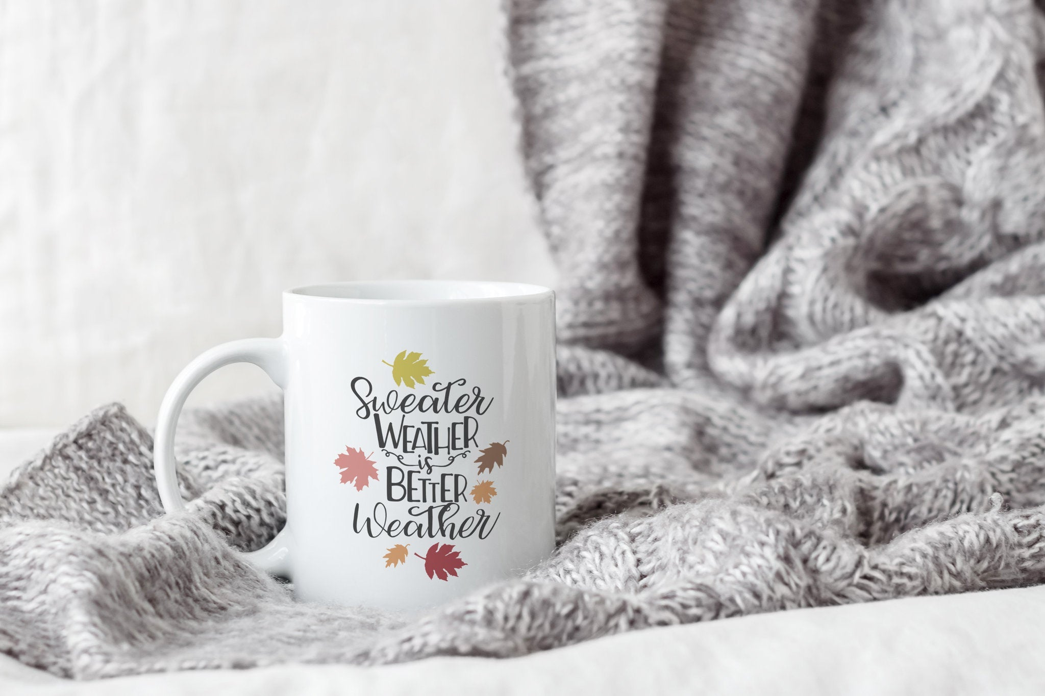 Fall Coffee Mug, Pumpkin Spice Latte, Sweater Weather, PSL Mug, Mom Gift, Best Friend Gift, Autumn Gift for Her, Fall Decor, Coffee Mug