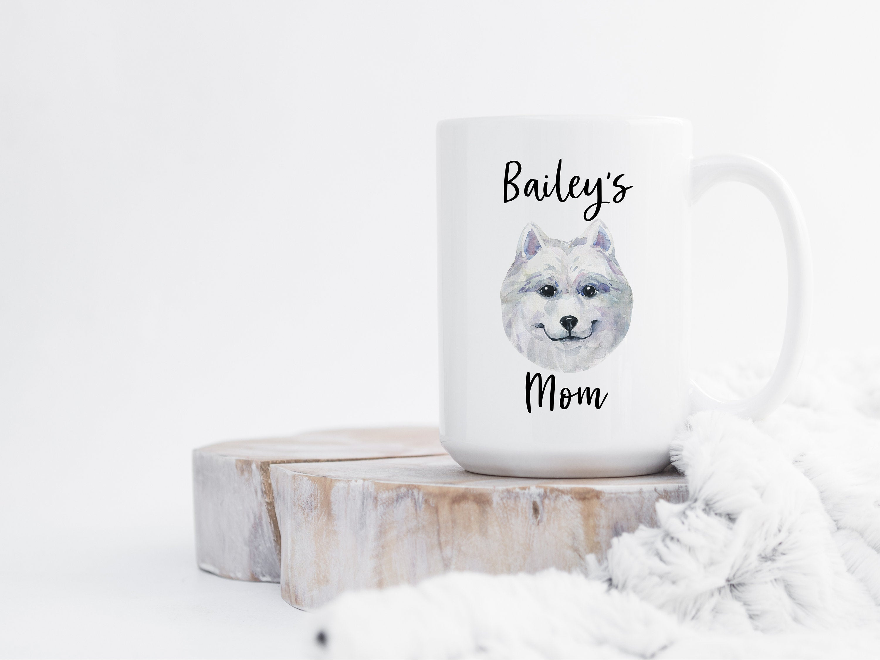 Personalized Dog Mom Gift, Custom American Eskimo Mug, Dog Lover Gift, Gifts for Dog Mom, Personalized Dog Coffee Mug, Pet Gift for Her S049