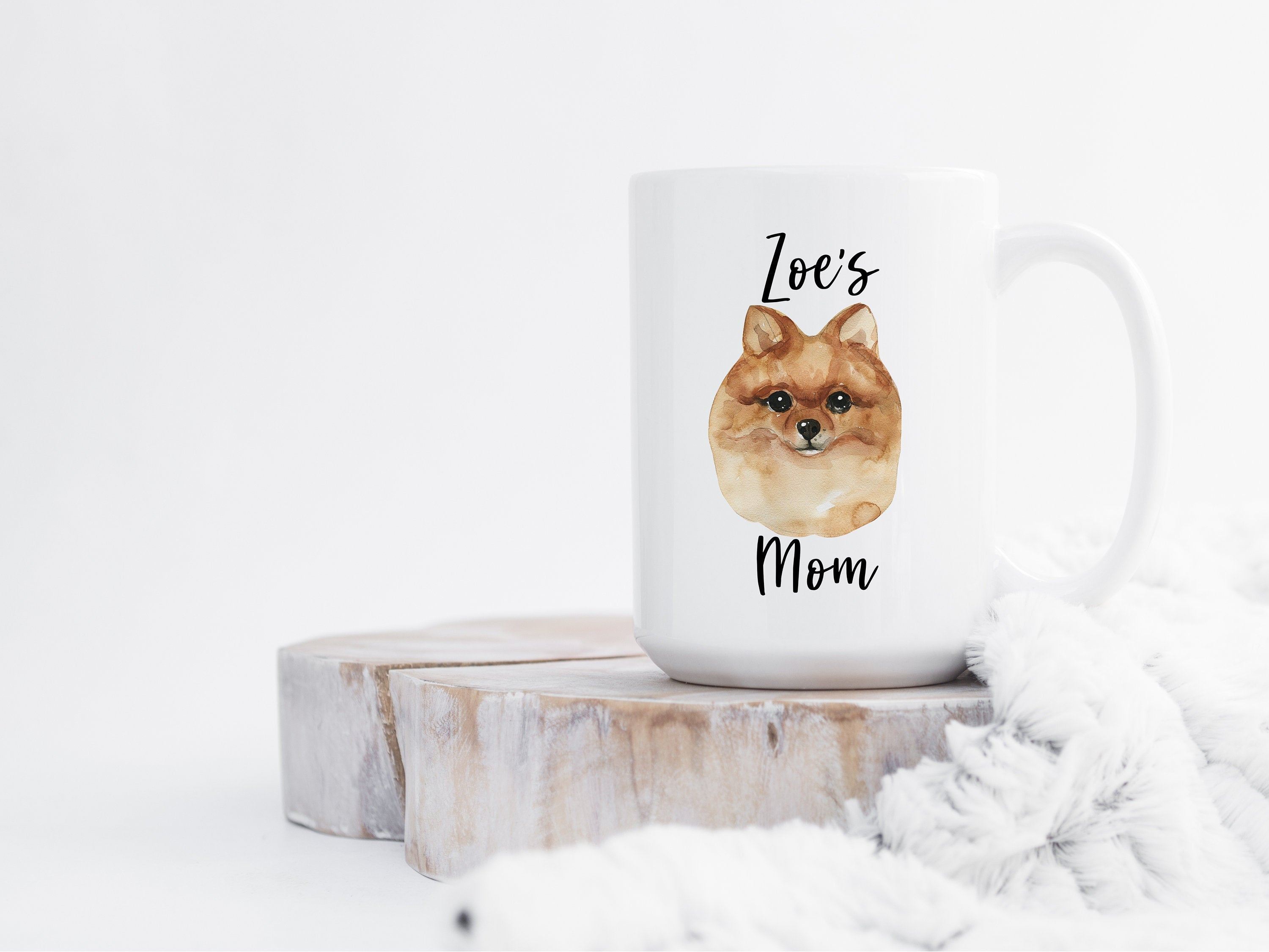 Personalized Dog Mom Gift, Custom Pomeranian Mug, Dog Lover Gift, Gifts for Dog Mom, Personalized Dog Coffee Mug, Cute Pet Gift for Her S062