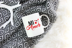 Mi Amor Coffee Mug, Valentines Day Gift for Boyfriend, Husband Valentine's, Gift for Girlfriend or Wife, Cute Mug S472 JO