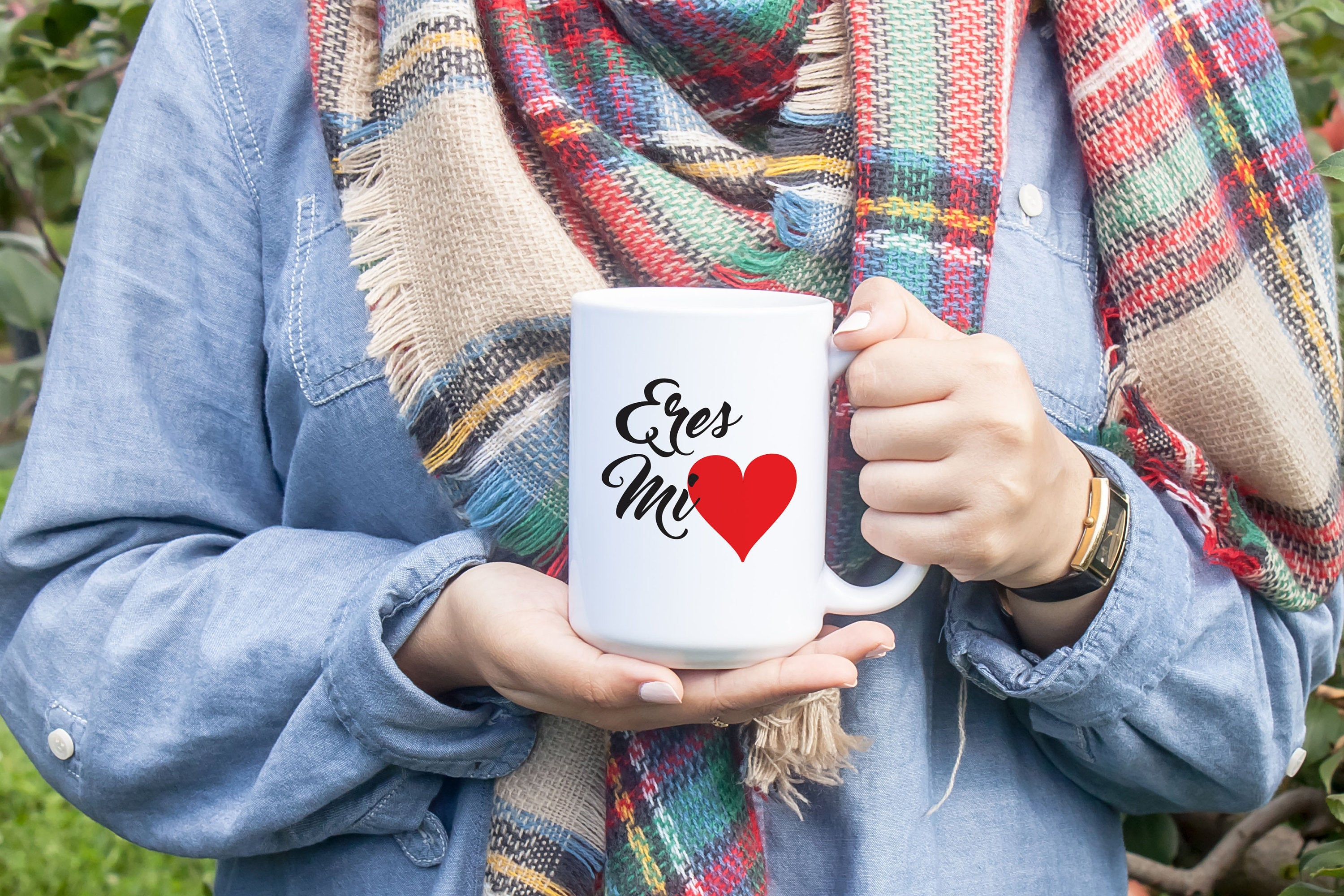 Eres Mi Corazon Coffee Mug, Valentines Day Gift for Boyfriend, Husband Valentine's, Gift for Girlfriend or Wife, Cute Mug S473 JO