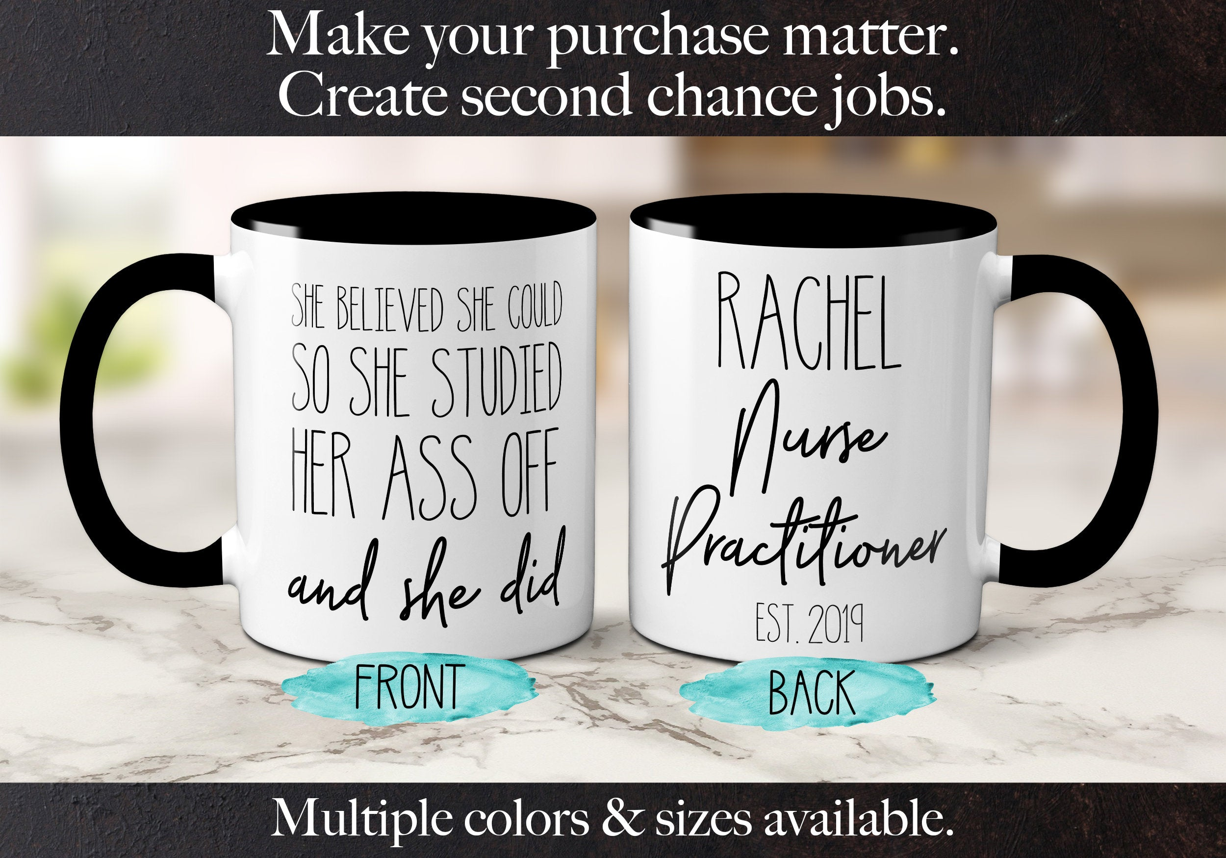 Personalized Nurse Practitioner Graduation Gift NP Mug She Believed She Could Coffee Mug Graduation Gifts Master of Nursing S1043