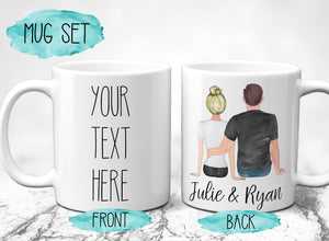Personalized Valentines Day Gift from Girlfriend to Boyfriend Custom Mug Set Personalized Mug with Pictures Valentine's Day Mug S0136