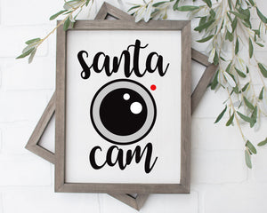 Santa Cam Christmas Decor Christmas Gift For Dad Christmas Gifts Digital Print Art Santa Claus P0080