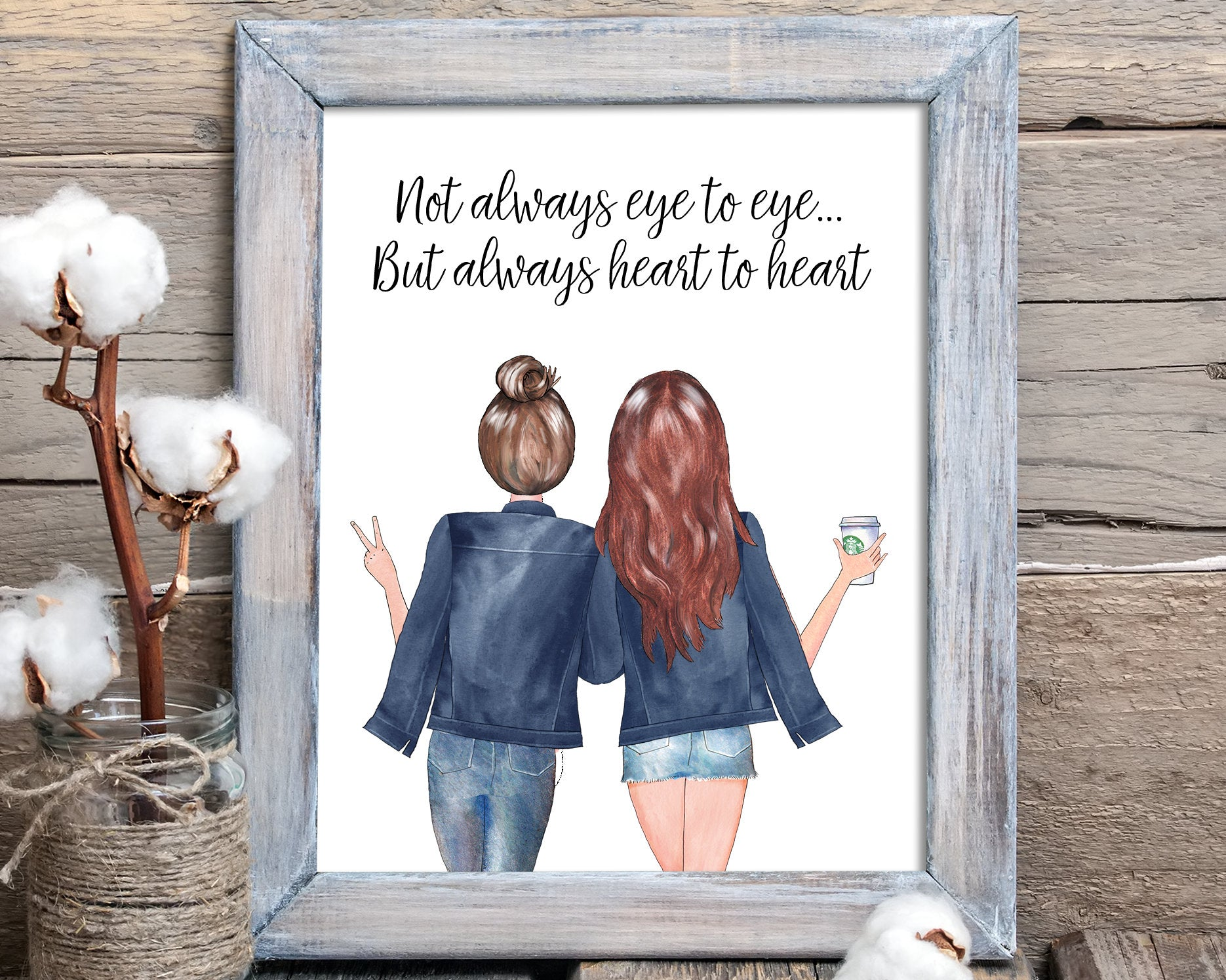 Personalized Christmas Gift For Mom or Stepmom Custom Gift For Mother Daughter Birthday Personalized Printable Wall Art Dorm Decor P0084