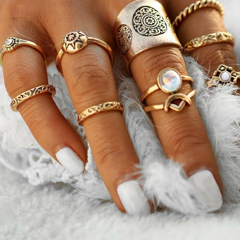 Pearl Climax Knuckle Ring Set