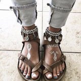 Cross Toe Cork Sandals