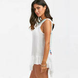 Macramé Backless Beach Dress