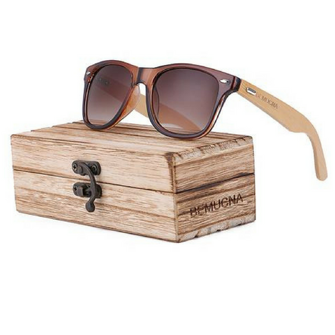 Blue Moon Bamboo Sunglasses By Bemucna