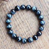 Natural Blue Tiger Eye Bracelet