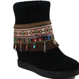 Hoss Feather Handcrafted Bohemian Boot Anklet