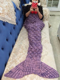 Mermaid Wool Knitted Blanket *FREE SHIPPING*