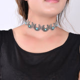 Stone Bead Choker Necklace