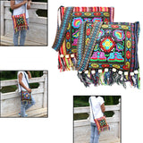 Embroidered Messenger Bag