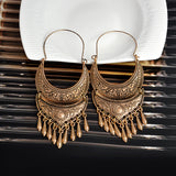 Tibetan Dangle Charm Statement Earrings
