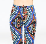 Baroque Print Wide Leg Pants