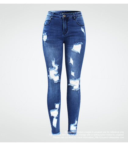 Pull On Distressed Skinny Jeans