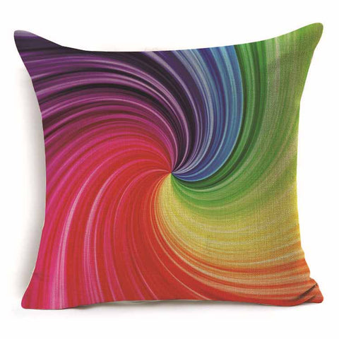 Boho Rainbow Pillow Cover