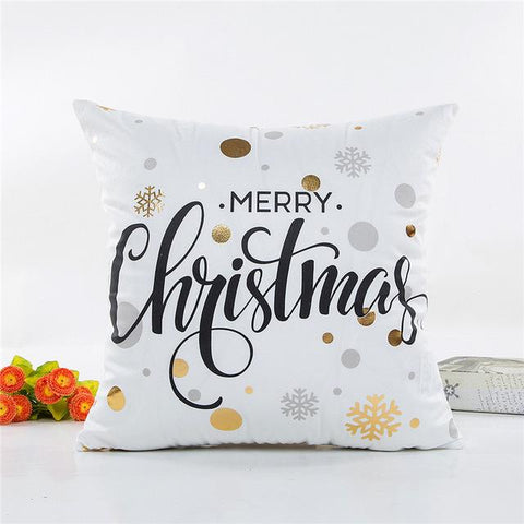 Golden Christmas Decorative Throw Pillow Covers