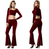 Very Velvet High Waist Flare Pants