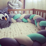 Knotted Braid Baby Crib Bumper Pillow