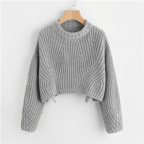 Vented Chunky Knit Sweater