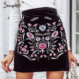 Simply Naughty Floral Skirt