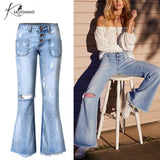 Brooke Pull On Flared Bell Bottom Jeans