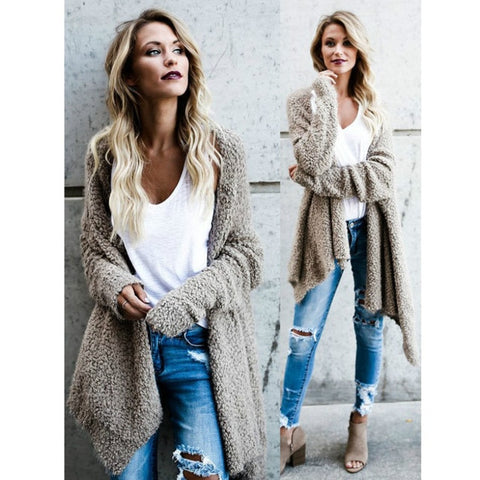 Runway Oversized Mohair Cardigan Sweater