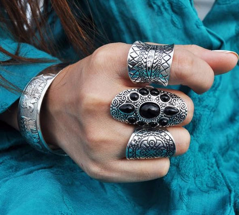Gypsy Chunky Ring Set