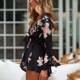 Mia Flare Sleeve Floral Romper
