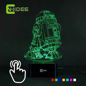 Stars Wars R2D2 USB Novelty 3d touch lamp/night light